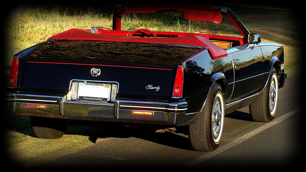 1985 Cadillac Eldorado Biarritz Convertible finished in rare Black(1 of  only 200 made in black) with Red Carmine Leather interior. 6ccb30dd3432