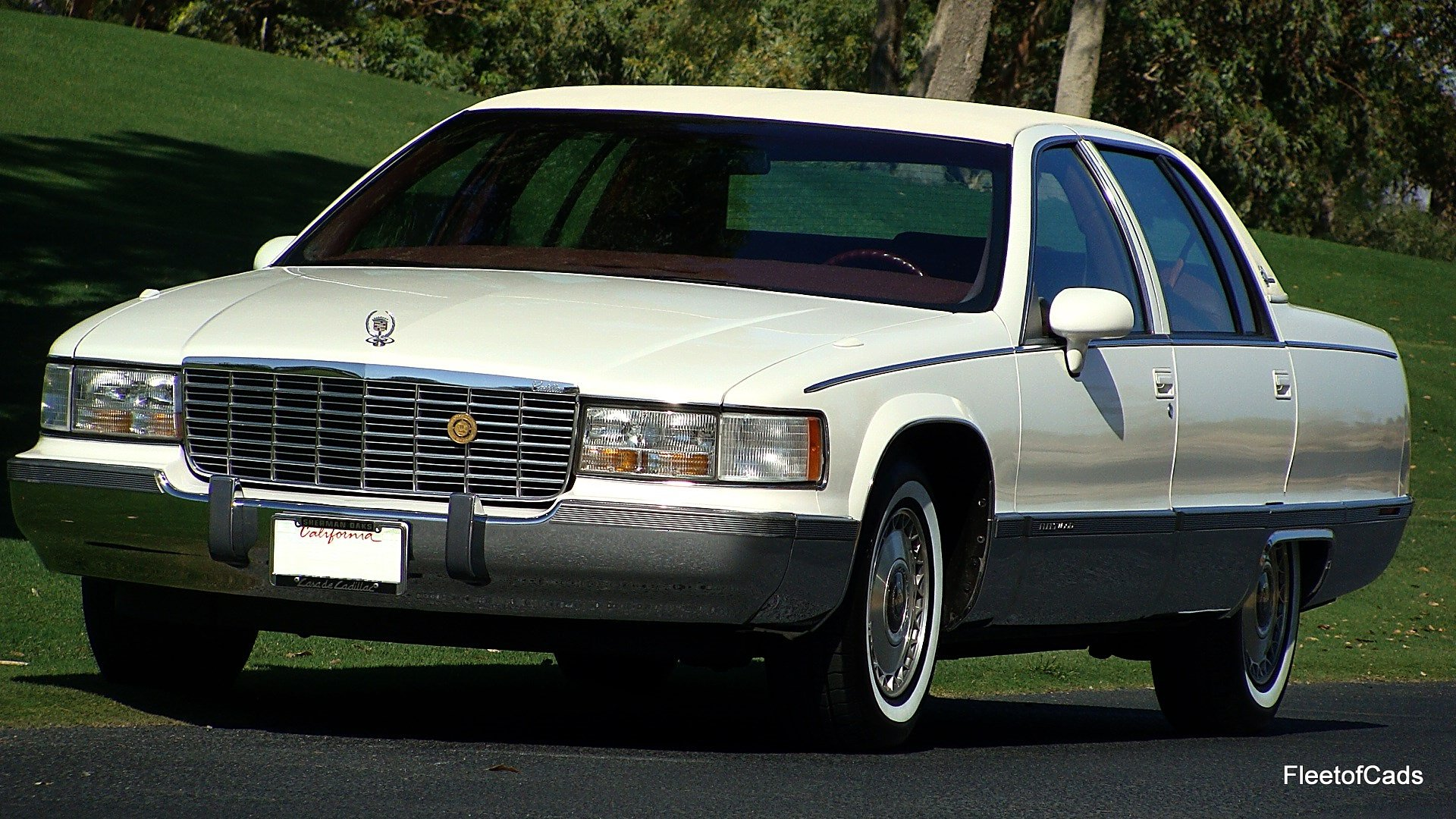1993 cadillac fleetwood brougham in bright white with garnet red. Cars Review. Best American Auto & Cars Review